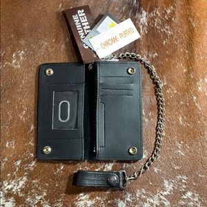 "7"" Biker Wallet with Chain"